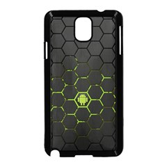 Green Android Honeycomb Gree Samsung Galaxy Note 3 Neo Hardshell Case (black)