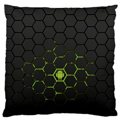 Green Android Honeycomb Gree Large Flano Cushion Case (two Sides)