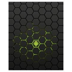 Green Android Honeycomb Gree Drawstring Bag (Small)