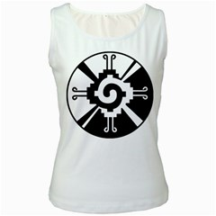 Maya Calendar Native American Religion Women s White Tank Top
