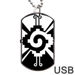Maya Calendar Native American Religion Dog Tag USB Flash (Two Sides)
