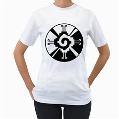 Maya Calendar Native American Religion Women s T Shirt (white)