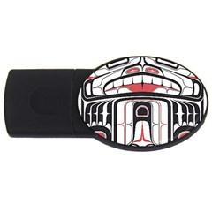 Ethnic Traditional Art Usb Flash Drive Oval (4 Gb)