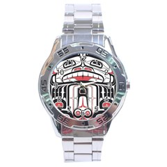 Ethnic Traditional Art Stainless Steel Analogue Watch