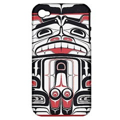 Ethnic Traditional Art Apple iPhone 4/4S Hardshell Case (PC+Silicone)