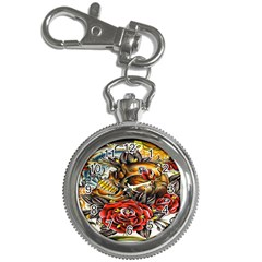 Flower Art Traditional Key Chain Watches