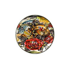 Flower Art Traditional Hat Clip Ball Marker
