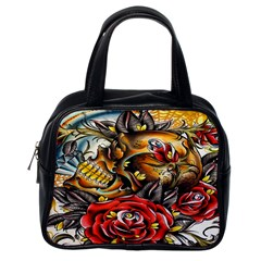 Flower Art Traditional Classic Handbags (One Side)