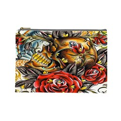Flower Art Traditional Cosmetic Bag (Large)