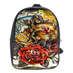 Flower Art Traditional School Bags(large)