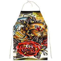 Flower Art Traditional Full Print Aprons