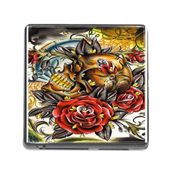 Flower Art Traditional Memory Card Reader (square)