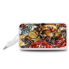 Flower Art Traditional Portable Speaker (White)