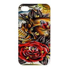 Flower Art Traditional Apple Iphone 4/4s Premium Hardshell Case