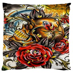 Flower Art Traditional Large Cushion Case (One Side)