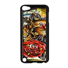 Flower Art Traditional Apple iPod Touch 5 Case (Black)