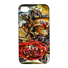 Flower Art Traditional Apple Iphone 4/4s Hardshell Case With Stand