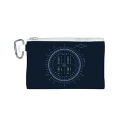 Minimalistic Knowledge Mathematics Trigonometry Canvas Cosmetic Bag (S)