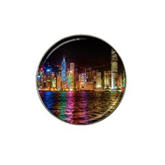 Light Water Cityscapes Night Multicolor Hong Kong Nightlights Hat Clip Ball Marker (10 pack)