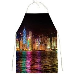 Light Water Cityscapes Night Multicolor Hong Kong Nightlights Full Print Aprons
