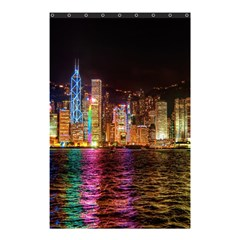 Light Water Cityscapes Night Multicolor Hong Kong Nightlights Shower Curtain 48  x 72  (Small)