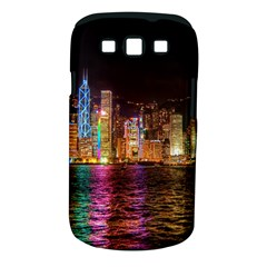 Light Water Cityscapes Night Multicolor Hong Kong Nightlights Samsung Galaxy S Iii Classic Hardshell Case (pc+silicone)