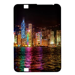 Light Water Cityscapes Night Multicolor Hong Kong Nightlights Kindle Fire HD 8.9
