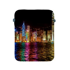 Light Water Cityscapes Night Multicolor Hong Kong Nightlights Apple iPad 2/3/4 Protective Soft Cases