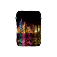 Light Water Cityscapes Night Multicolor Hong Kong Nightlights Apple Ipad Mini Protective Soft Cases