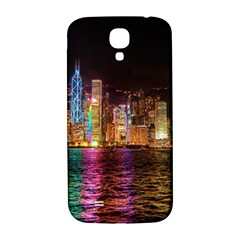 Light Water Cityscapes Night Multicolor Hong Kong Nightlights Samsung Galaxy S4 I9500/I9505  Hardshell Back Case