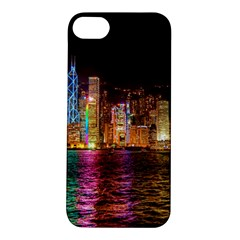 Light Water Cityscapes Night Multicolor Hong Kong Nightlights Apple iPhone 5S/ SE Hardshell Case
