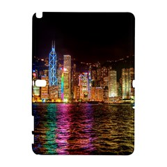 Light Water Cityscapes Night Multicolor Hong Kong Nightlights Galaxy Note 1