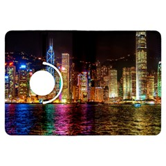 Light Water Cityscapes Night Multicolor Hong Kong Nightlights Kindle Fire HDX Flip 360 Case