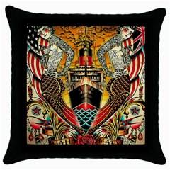 Hail Fine Art Print Throw Pillow Case (Black)
