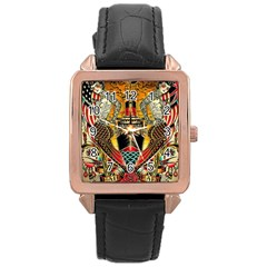 Hail Fine Art Print Rose Gold Leather Watch