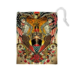 Hail Fine Art Print Drawstring Pouches (Large)