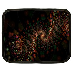 Multicolor Fractals Digital Art Design Netbook Case (Large)