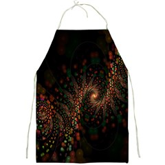 Multicolor Fractals Digital Art Design Full Print Aprons