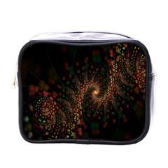 Multicolor Fractals Digital Art Design Mini Toiletries Bags