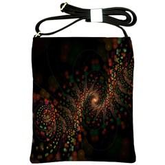 Multicolor Fractals Digital Art Design Shoulder Sling Bags