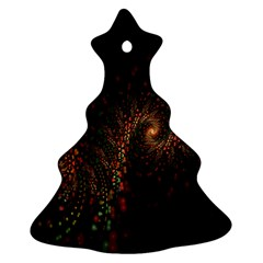 Multicolor Fractals Digital Art Design Christmas Tree Ornament (two Sides)