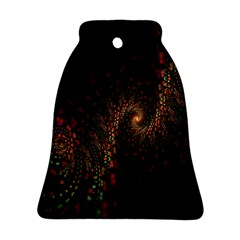 Multicolor Fractals Digital Art Design Bell Ornament (two Sides)