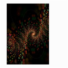 Multicolor Fractals Digital Art Design Small Garden Flag (two Sides)