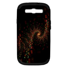 Multicolor Fractals Digital Art Design Samsung Galaxy S III Hardshell Case (PC+Silicone)