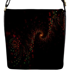 Multicolor Fractals Digital Art Design Flap Messenger Bag (s)