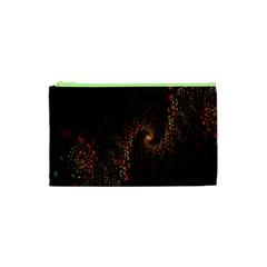 Multicolor Fractals Digital Art Design Cosmetic Bag (XS)