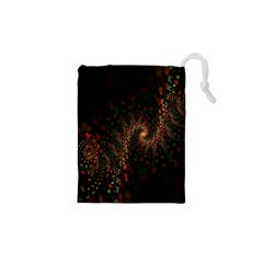 Multicolor Fractals Digital Art Design Drawstring Pouches (XS)