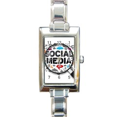 Social Media Computer Internet Typography Text Poster Rectangle Italian Charm Watch
