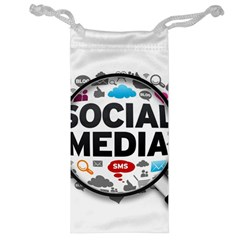 Social Media Computer Internet Typography Text Poster Jewelry Bag