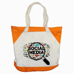 Social Media Computer Internet Typography Text Poster Accent Tote Bag